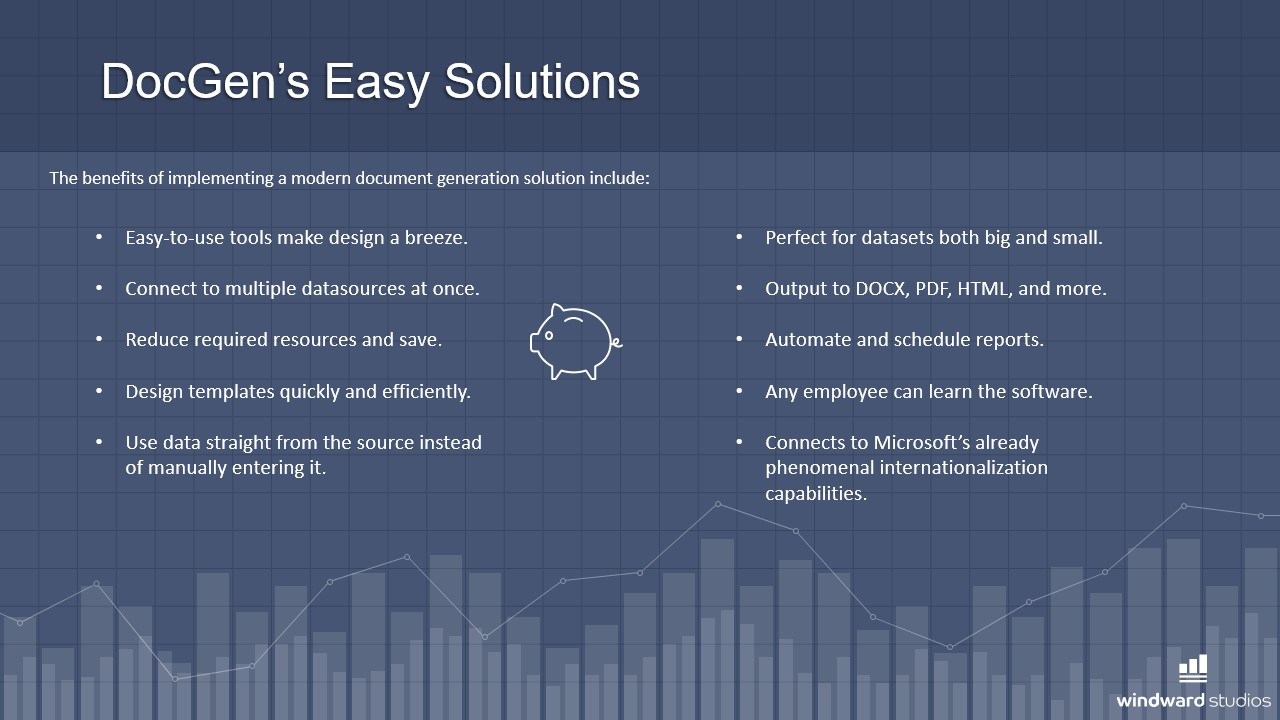 PPTX slide showing DocGen's easy solutions