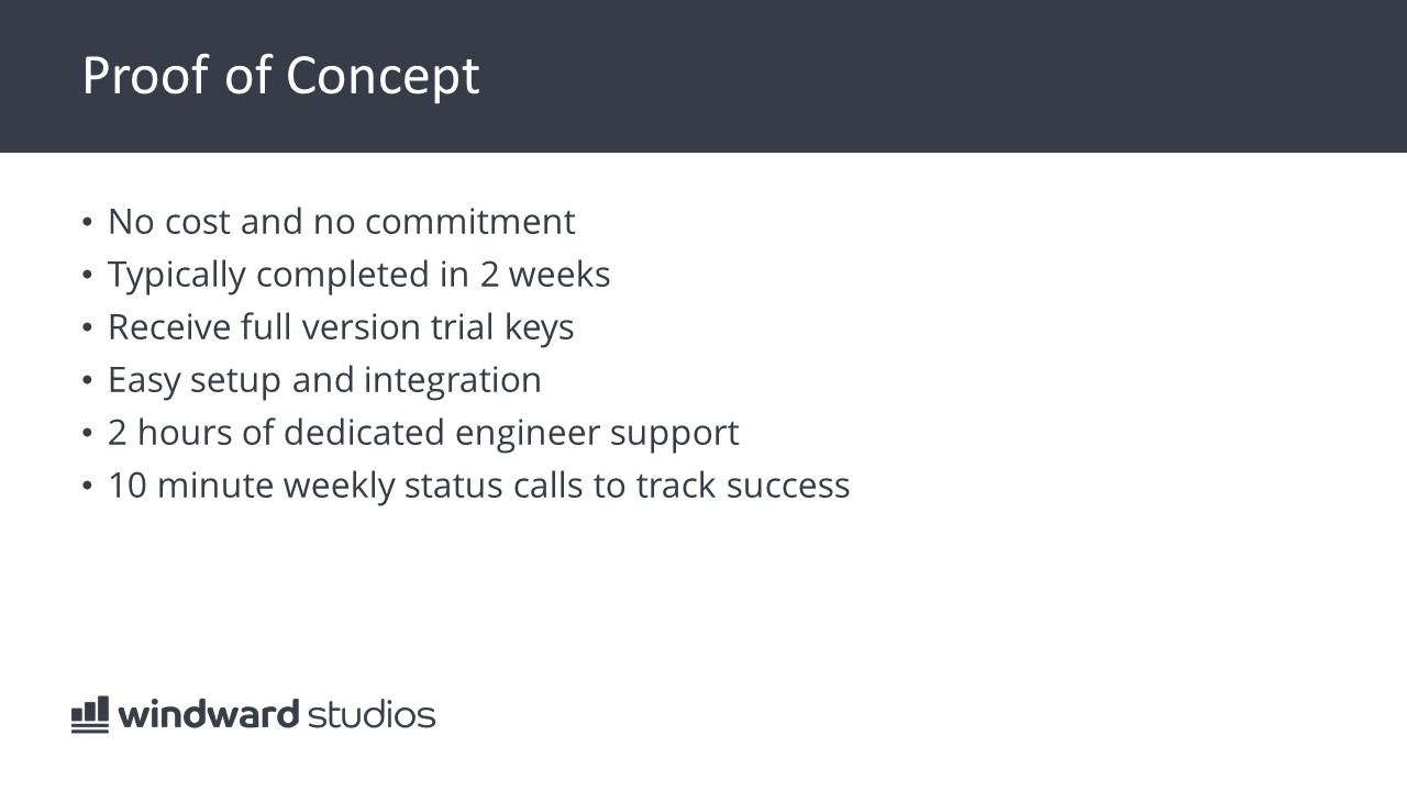PPTX slide about proof of concept