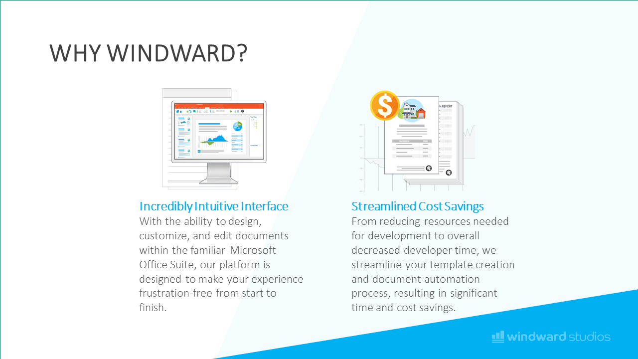 Another PPTX slide showcasing why to choose Windward
