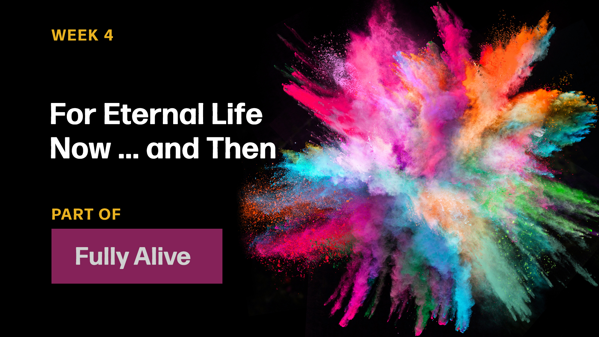 For Eternal Life Now ... and Then (Sermon)