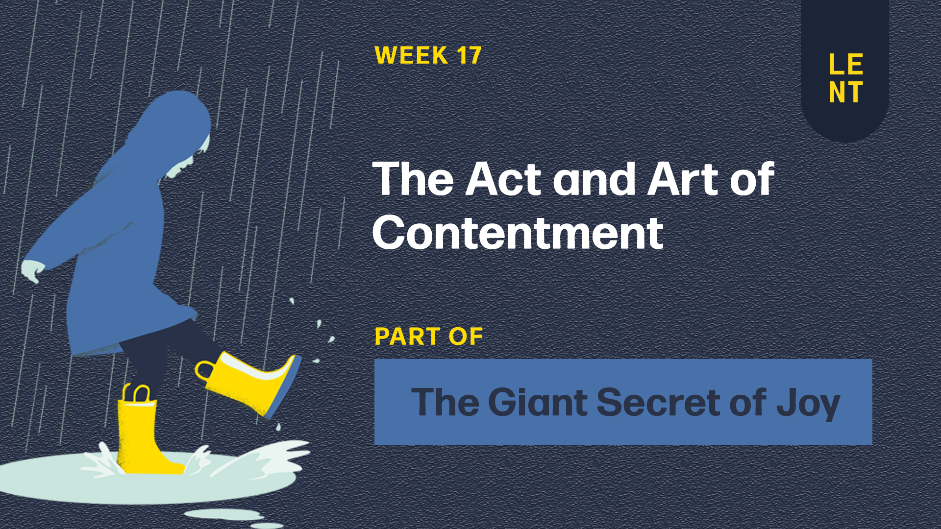 The Act and Art of Contentment