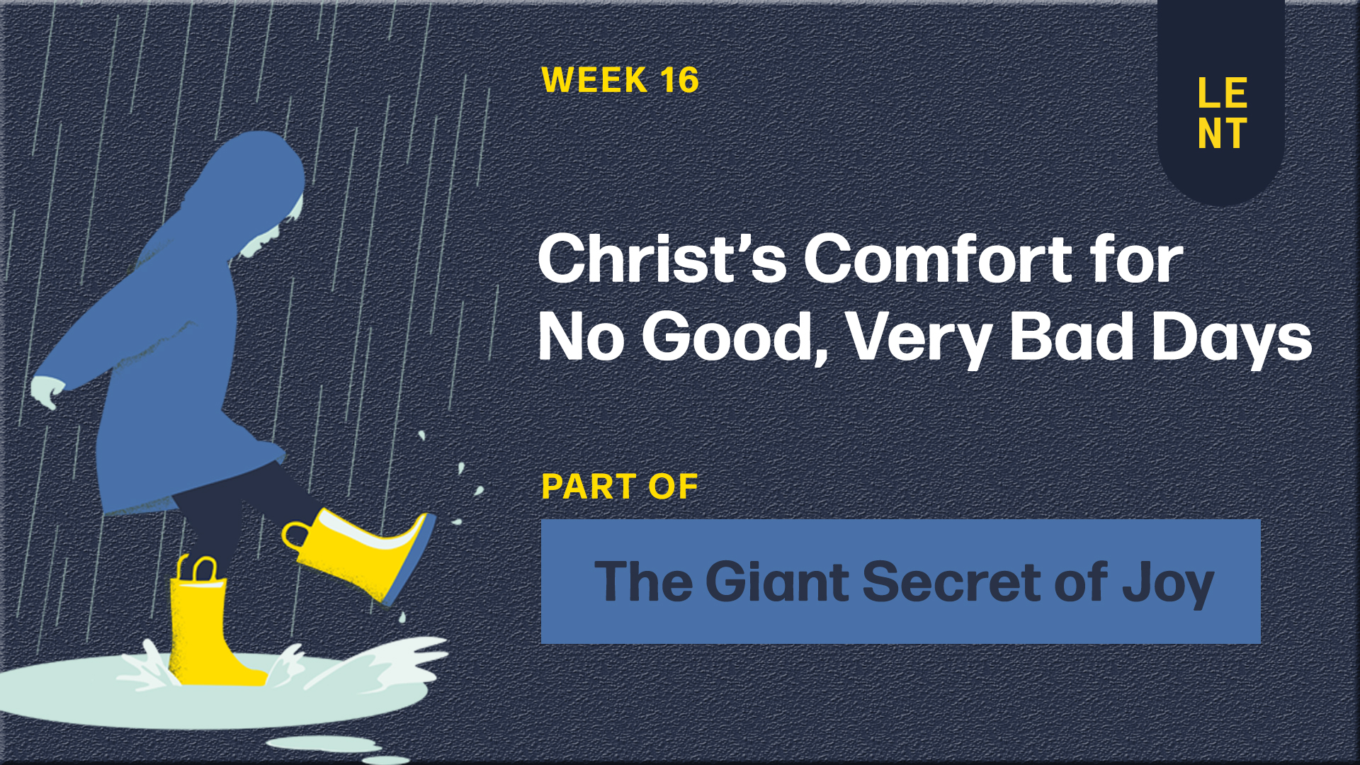 Christ's Comfort for the No Good, Very Bad Days