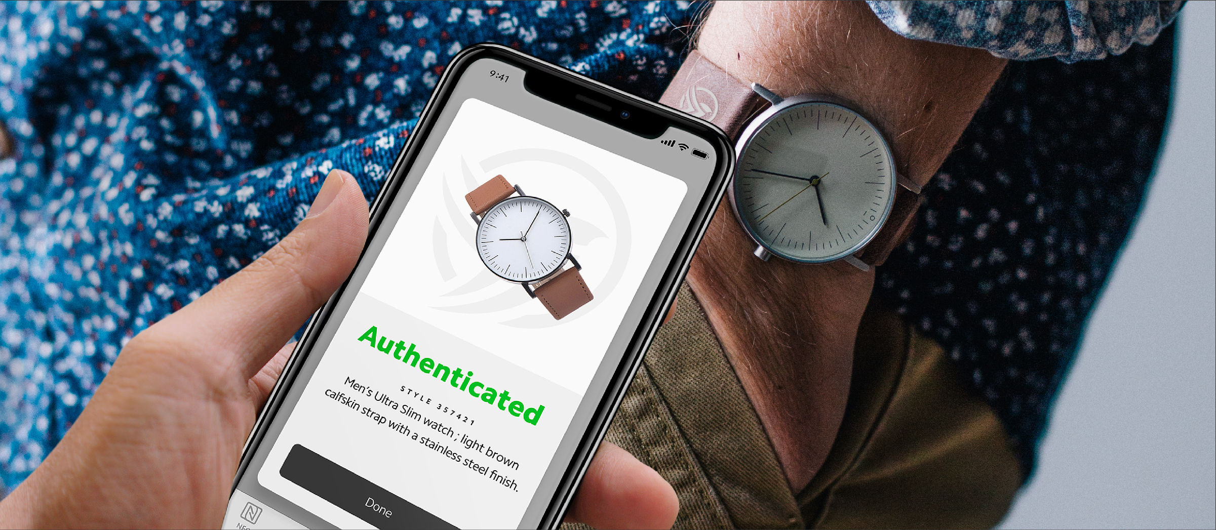 NFC authenticates products