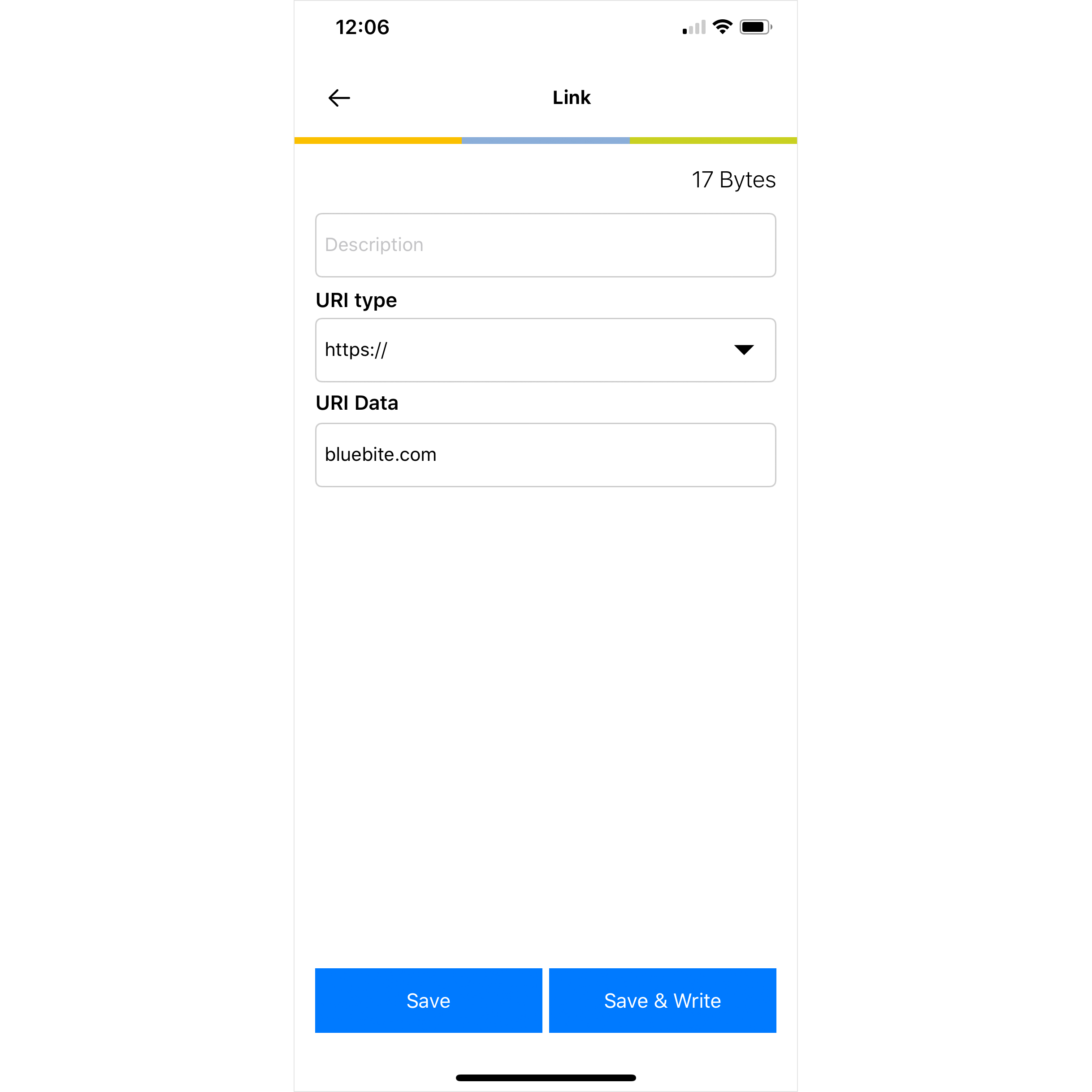 NFC URL on iPhone and iOS 13