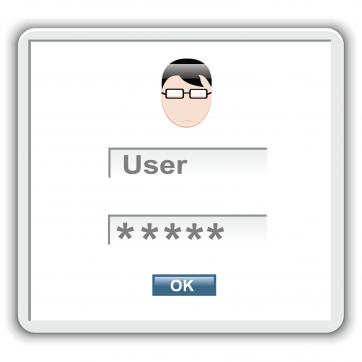 Sample log in screen