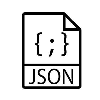 Paper with the JSON logo