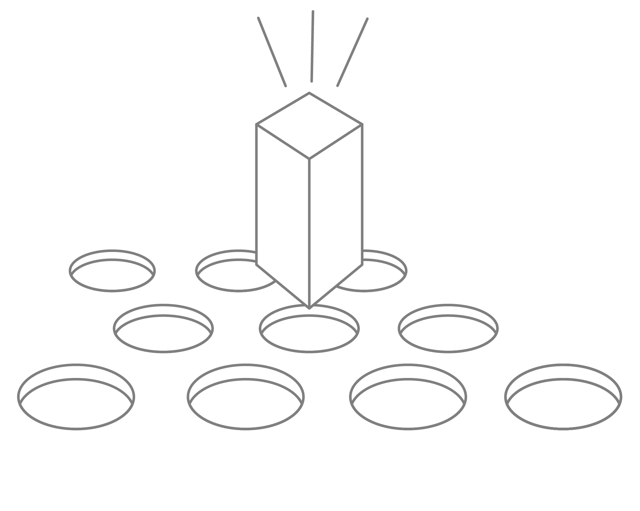 Circular holes with a rectangular shape above