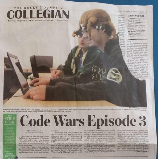 Code Wars Episode 3 printed in newspaper