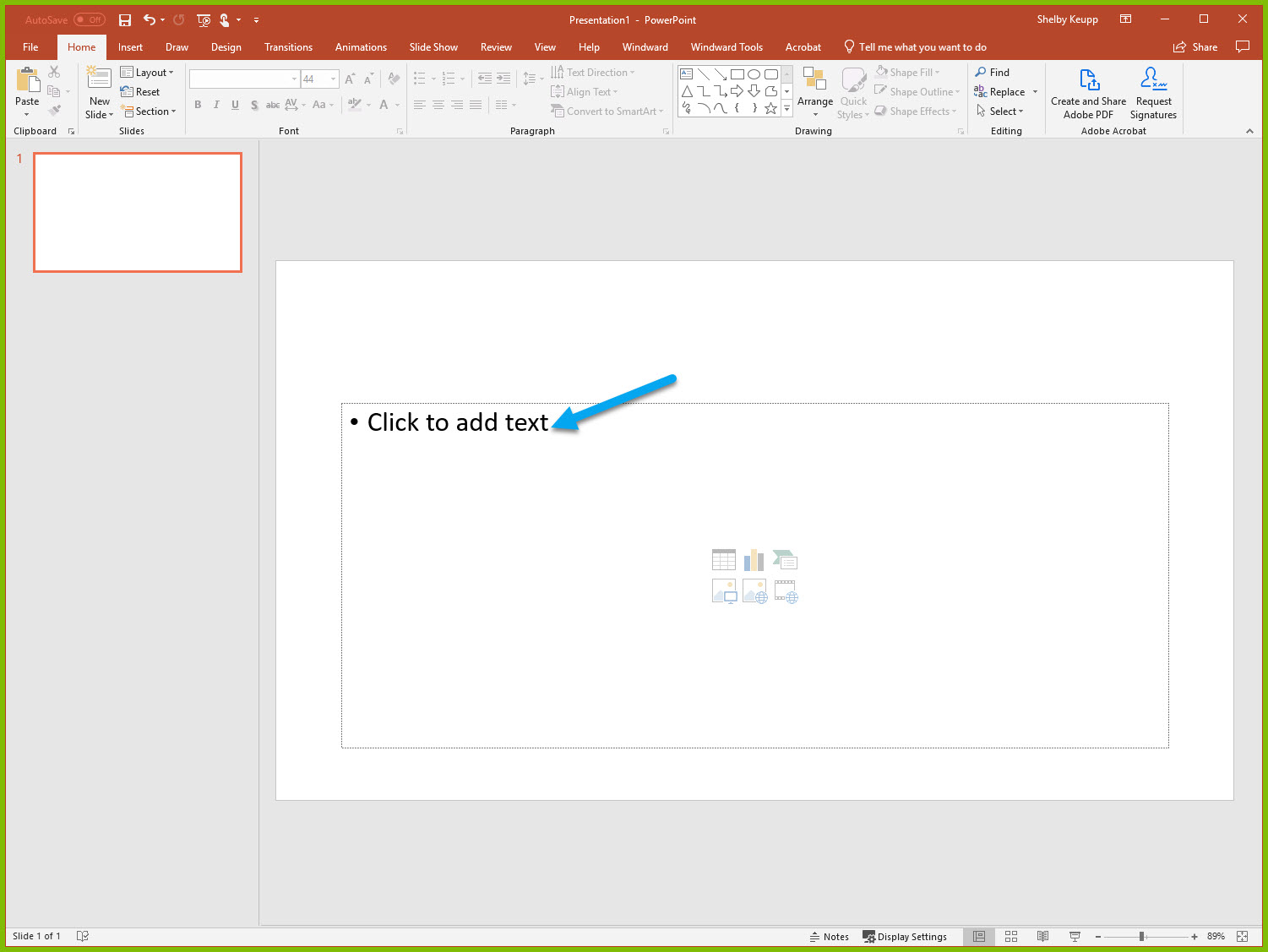 SQL Data in a PowerPoint Template
