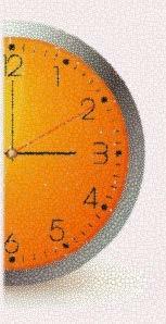 Half of a wall clock