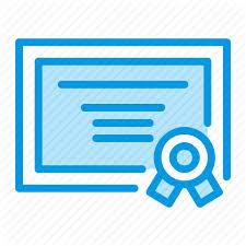 License certificate icon