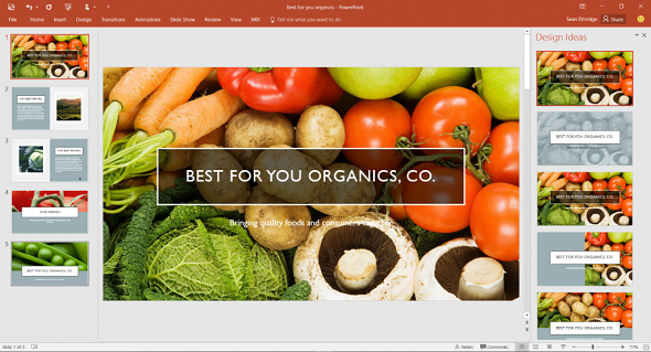organic food powerpoint presentation