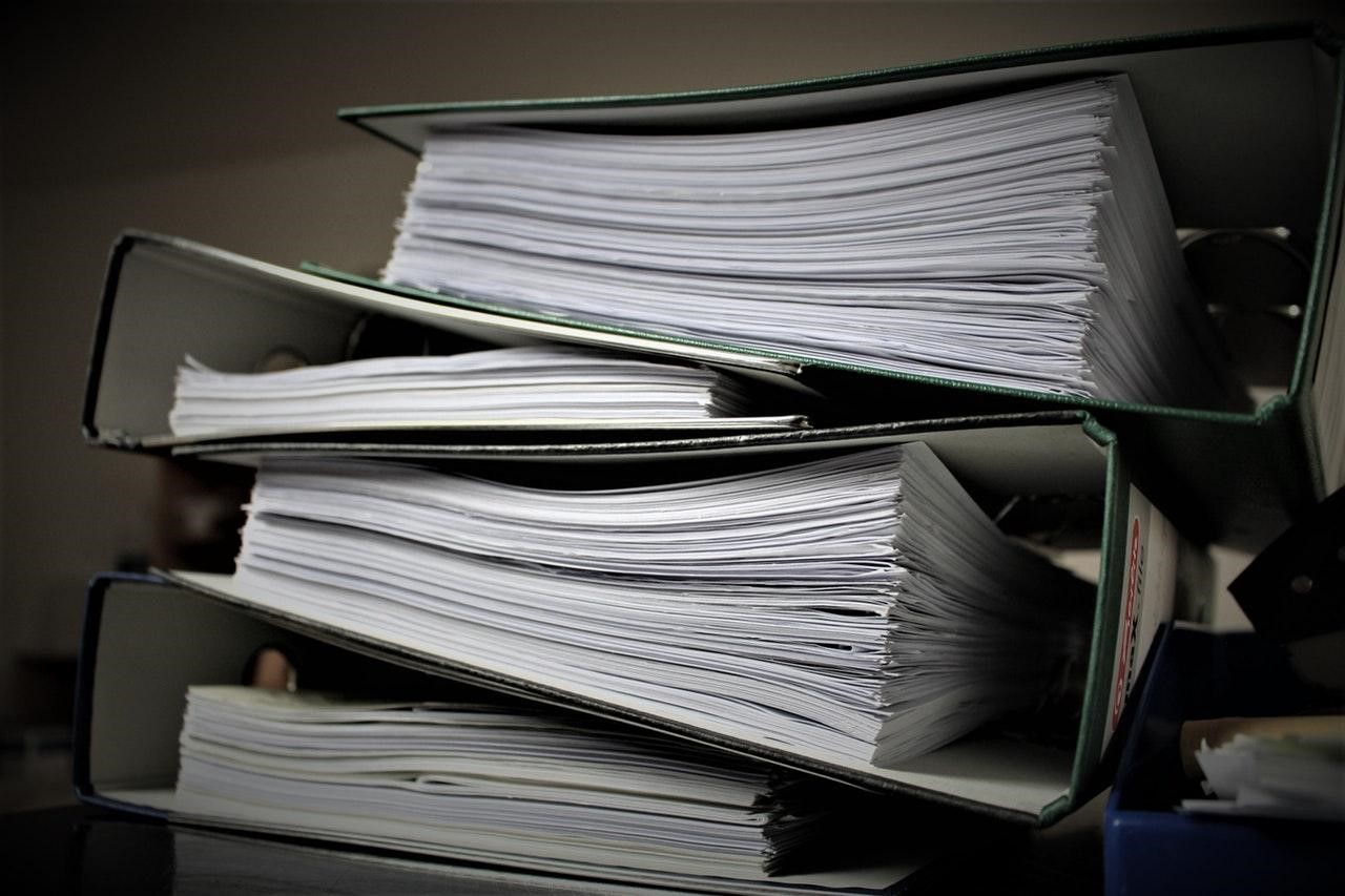 document files stacked one above another