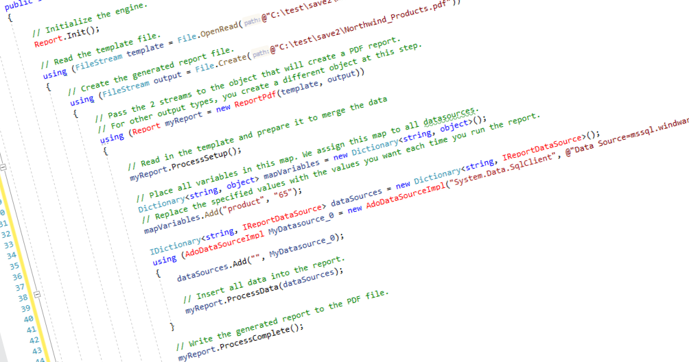 sample c# source code