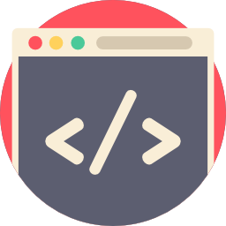 An abstract icon that represents code.