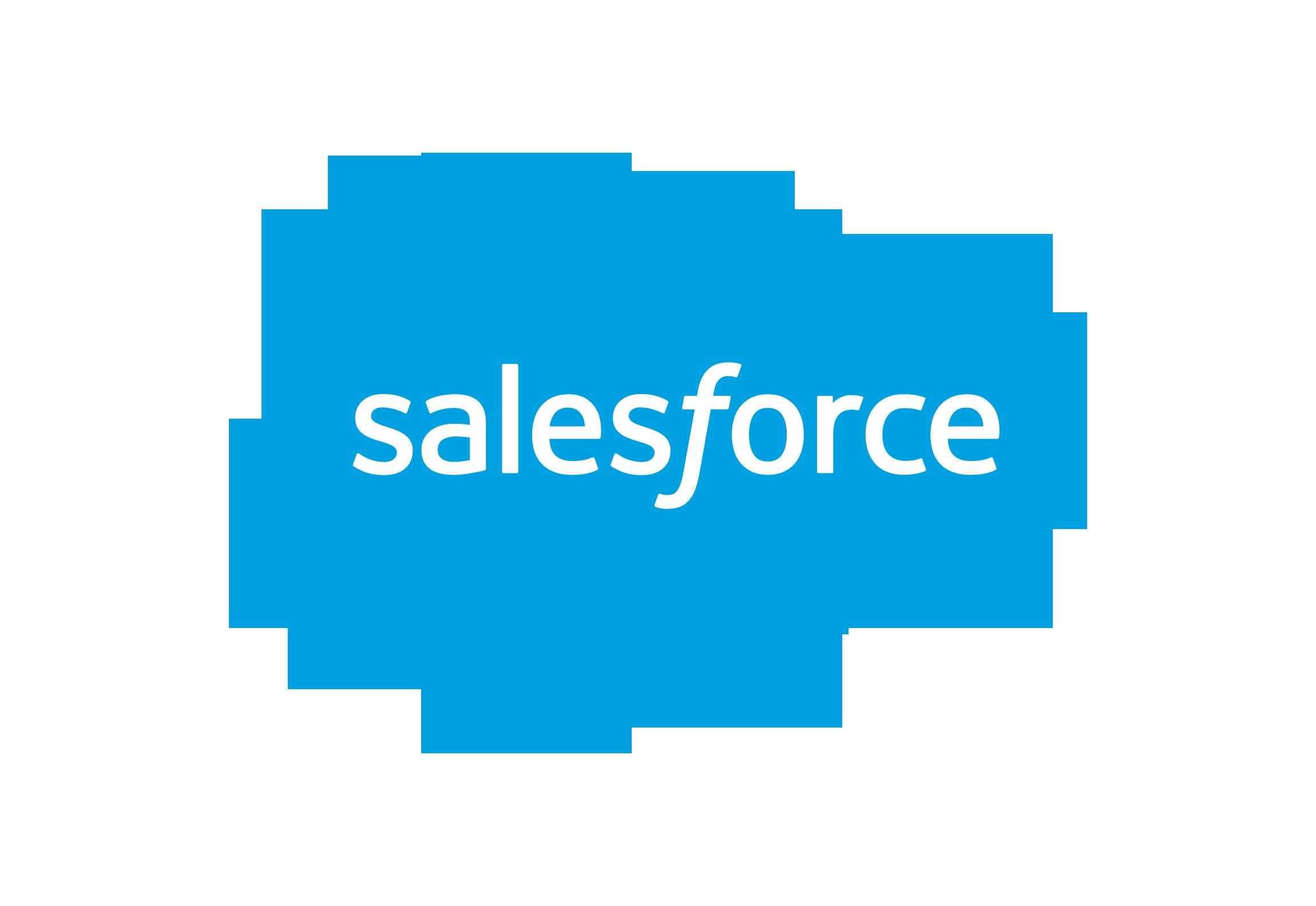 The Salesforce blue cloud logo.