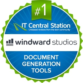 Badge from IT Central Station for Windward: #1 Document Generation Tools.