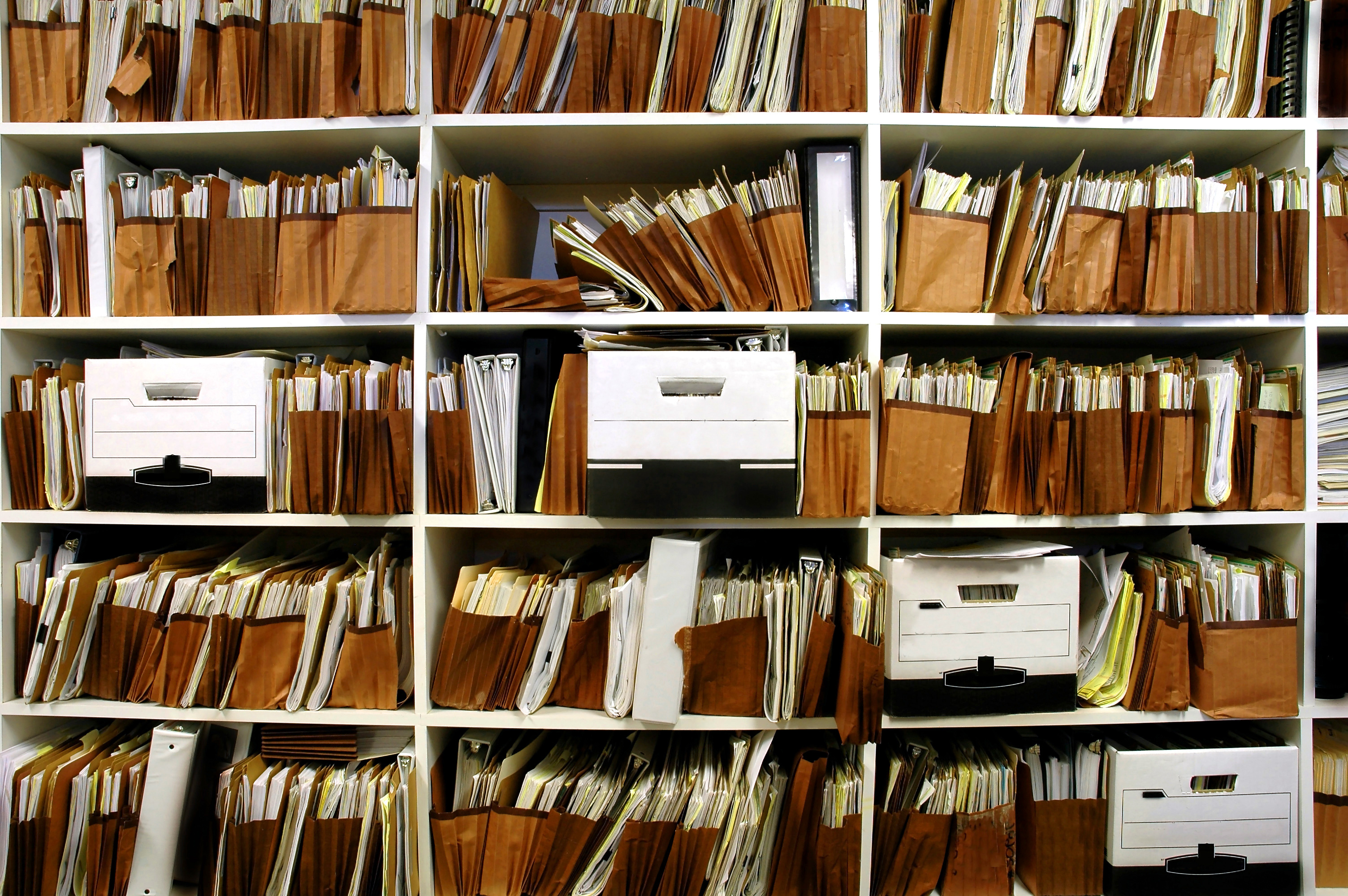 document generation and shelves of documents
