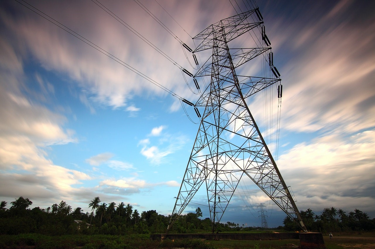 A transmission tower
