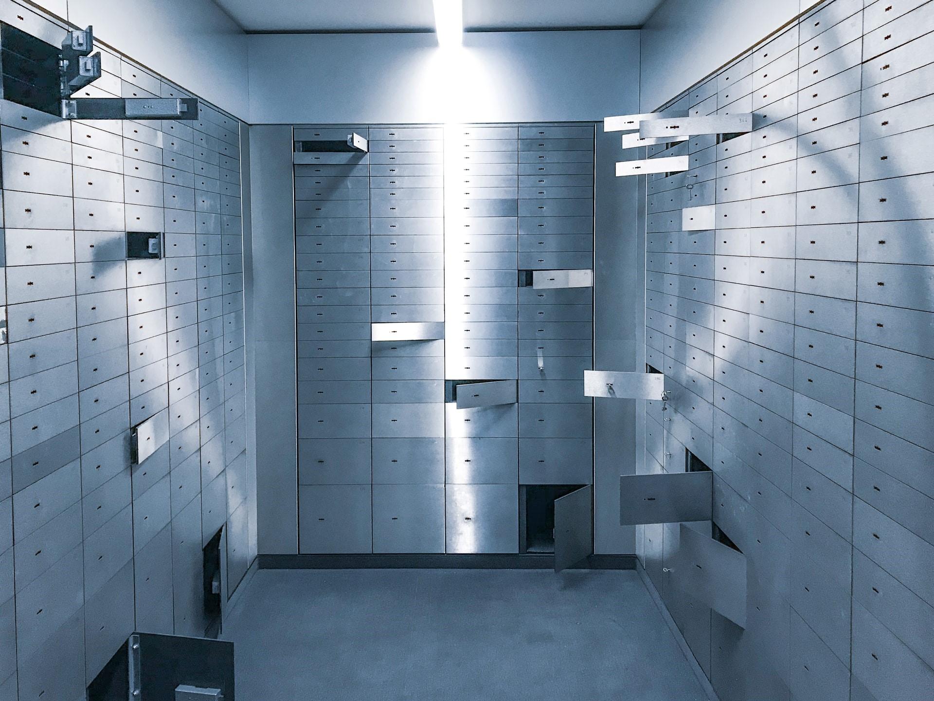 Vault in a bank