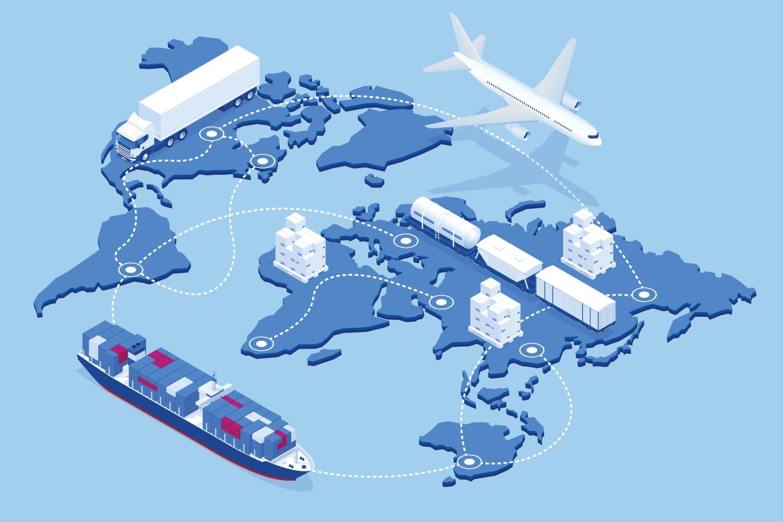 Supply chain management graphic