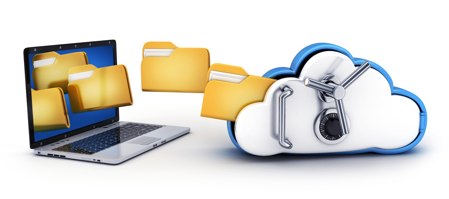 Files securely transferred from storage to a computer