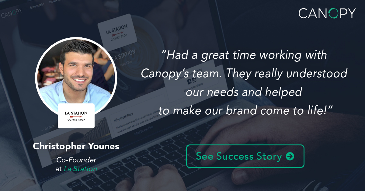 Canopy helped us to tell our story