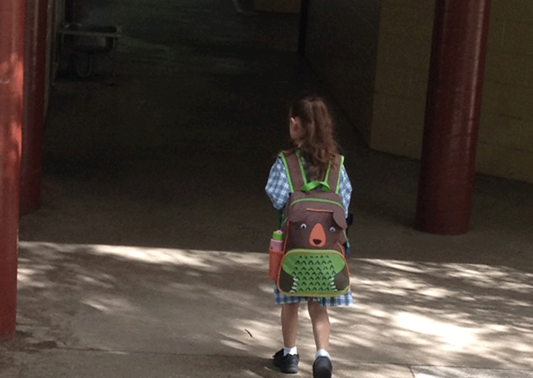 Queensland school child walks into school with pest control record keeping.