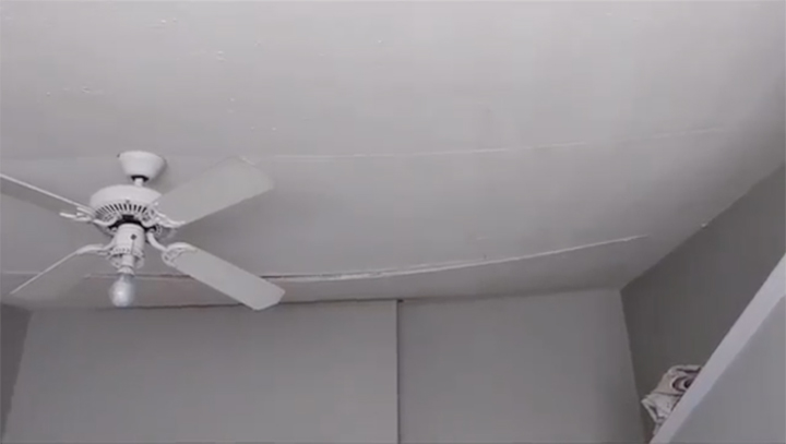 visual damage to ceilings because of termites in Brisbane homes