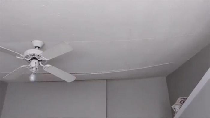 Ceiling sagging