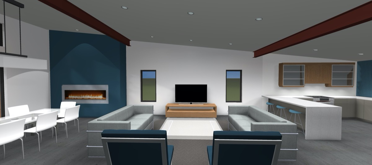 Net Zero Home Peterborough - Interior Rendering