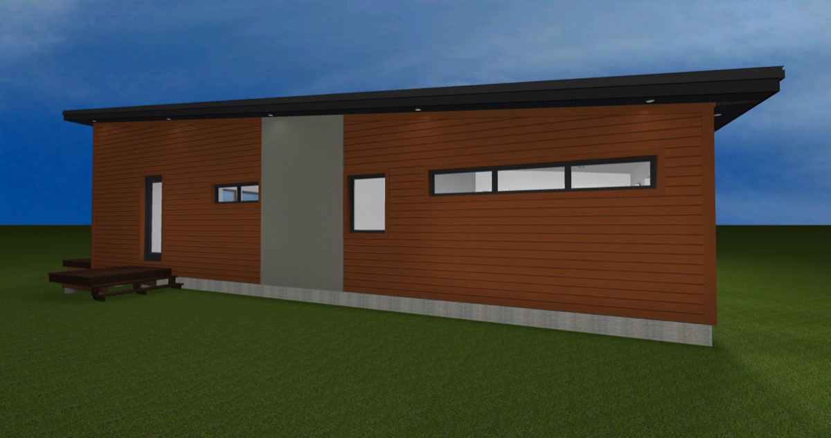 Net Zero Home Peterborough - Exterior Rendering