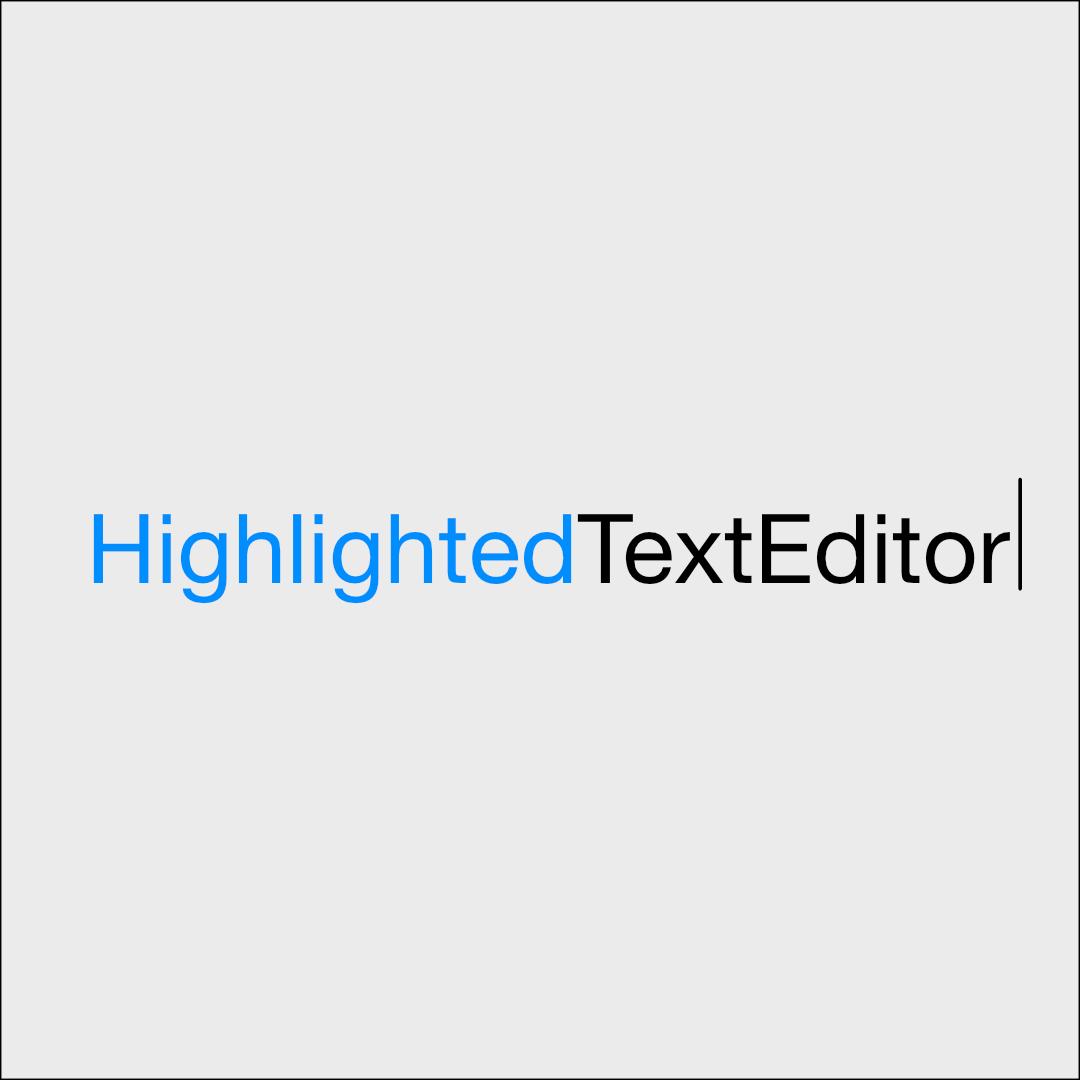 HighlightedTextEditor