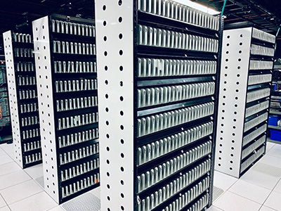Racks of Mac minis