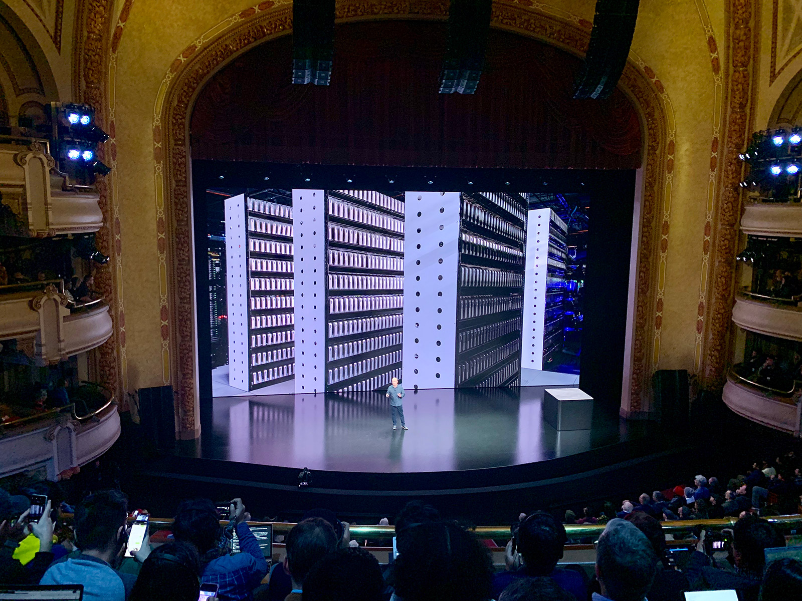 Mac minis on stage