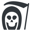 Grim text editor resurrected logo