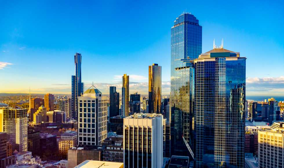Melbourne skyline offices