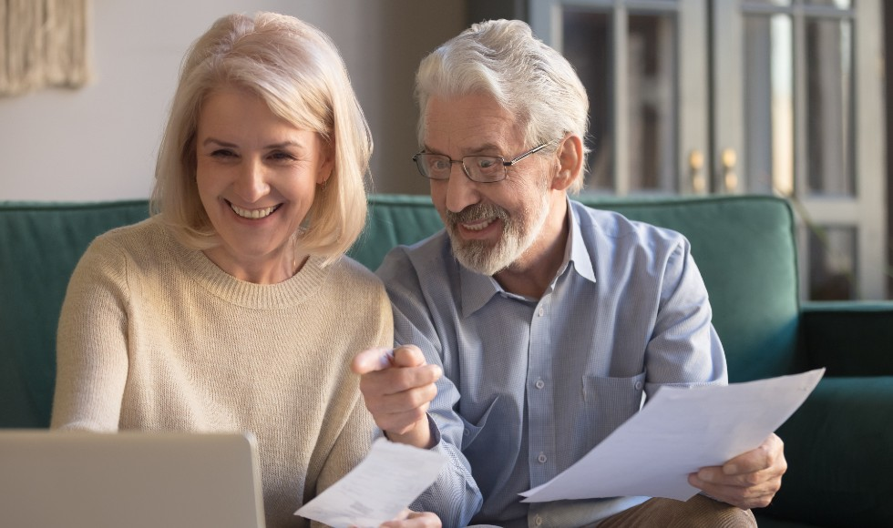 older couple assessing their superannuation fund