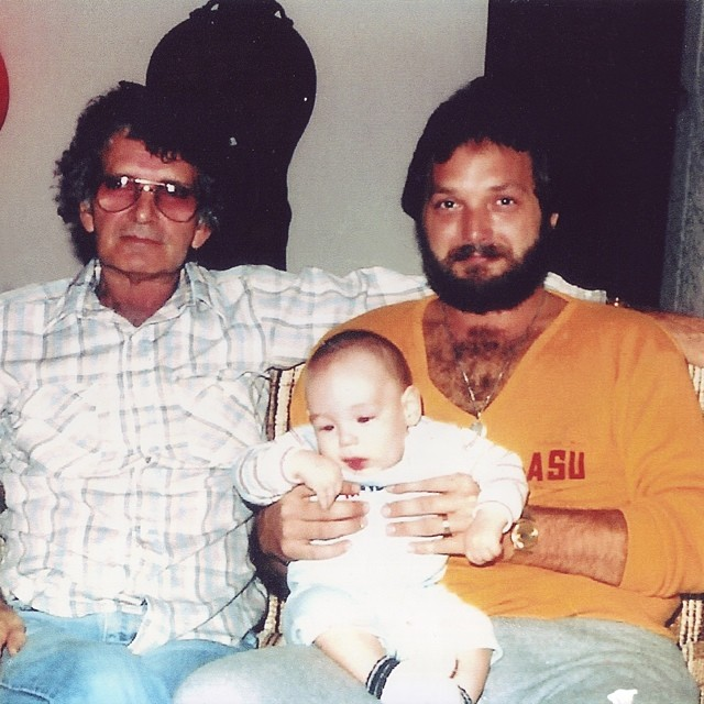 Jack Marcum Sr, Jack Marcum Jr and baby Jack Lee Marcum the third together in 1985