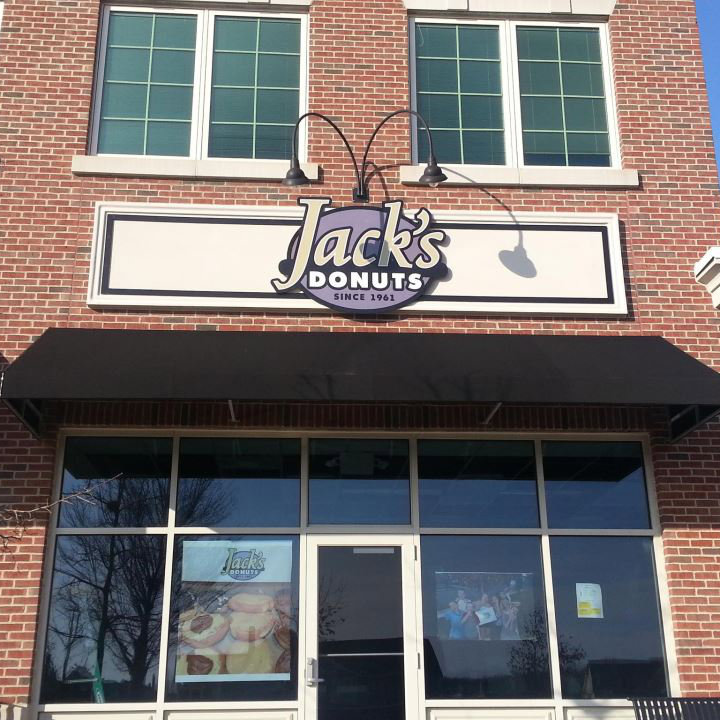 Store front of Jack's Donuts Fisher location