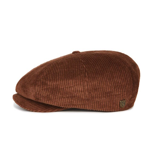 Brixton Brood Snap Cap Brown Cord