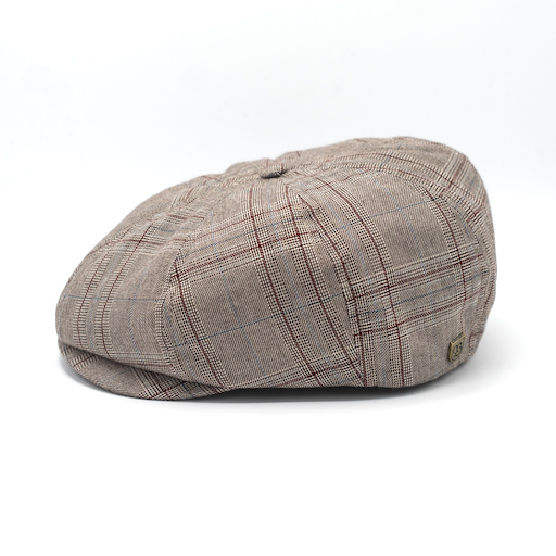 Brixton Brood Snap Cap Taupe Plaid