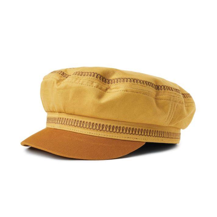 Brixton Fiddler EMB Cap Nuget Gold