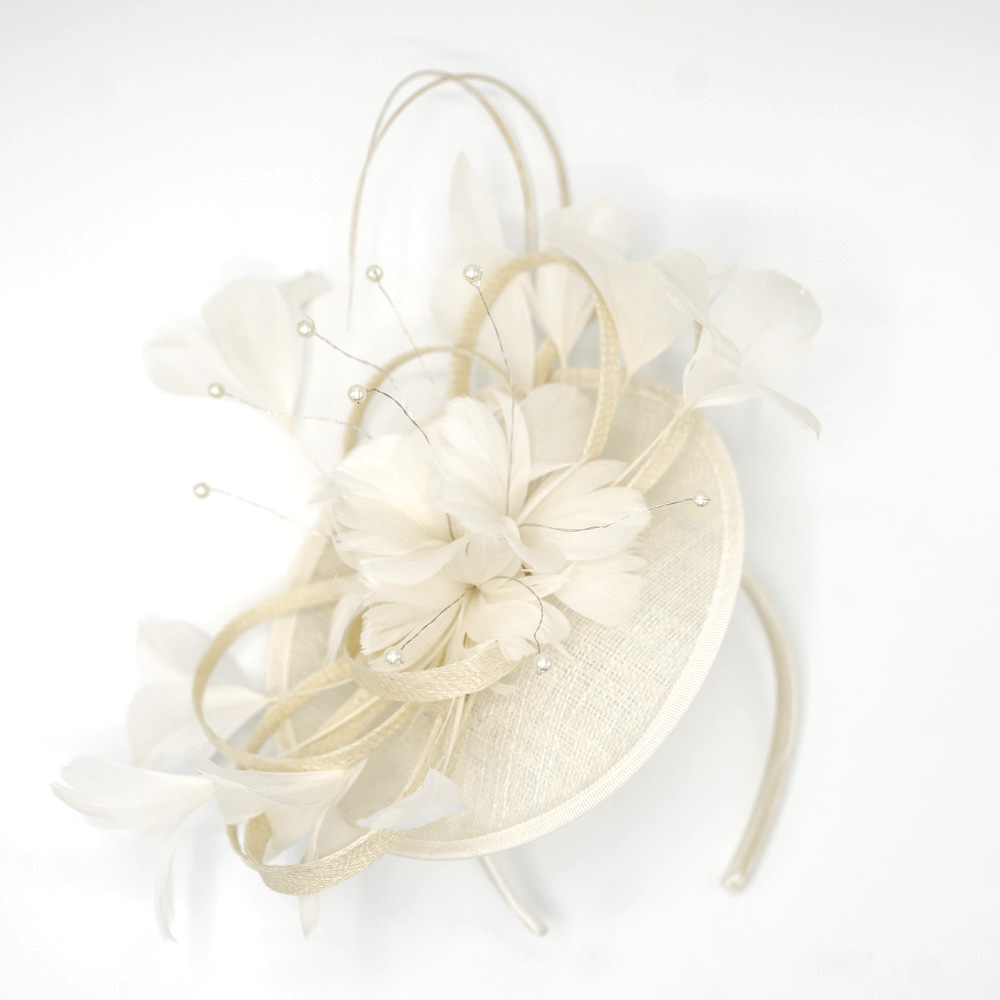 Mc Burn Emma B Fascinator White