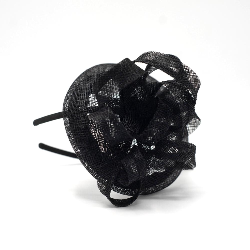 Seeberger Fascinator Curl Black & White