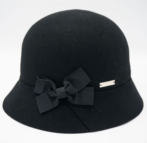 Seeberger Cloche Wool Black