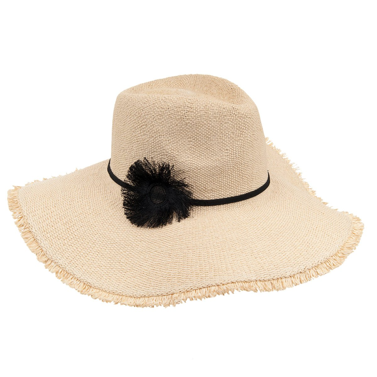 Seeberger Fedora Wide Brim Straw