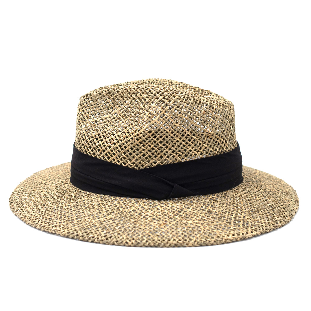 Seeberger Fedora Natural Seagras Black