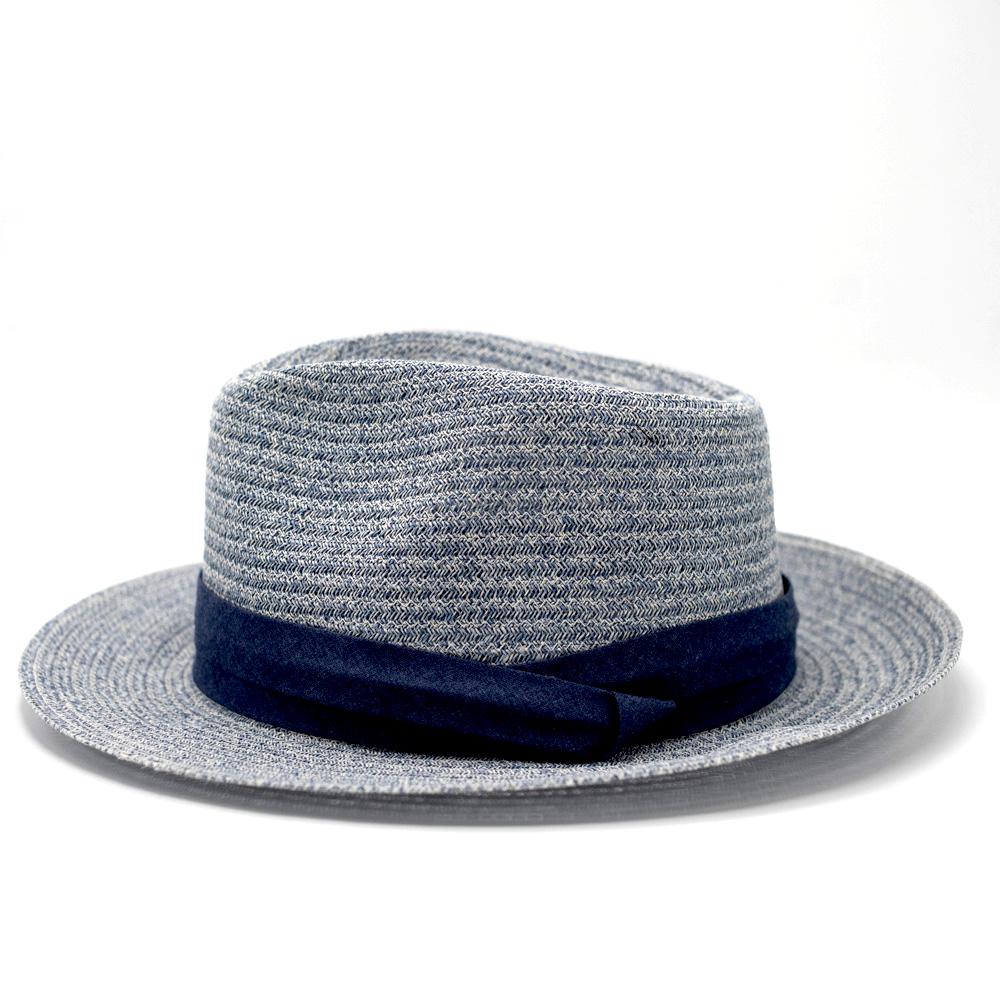 Seeberger Fedora Bogart Jeans Blue