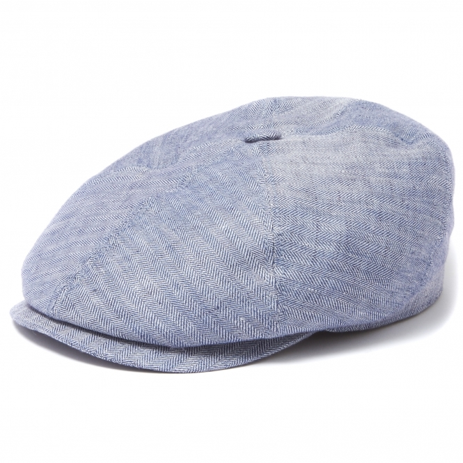 Stetson 6-panel Cap Linen Herringbone Blue